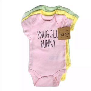 Rae Dunn onesie set Snuggle Bunny size 6-9 Months